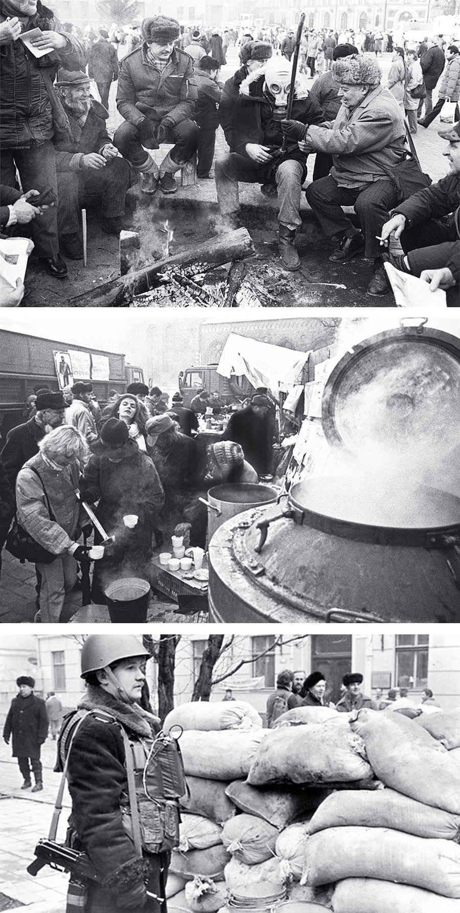 Фотографии латышей, ведущих борьбу за независимость от КПСС и СССР